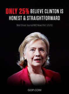 We've said it from day one, Hillary Clinton is NOT trustworthy.