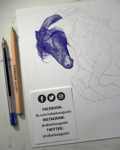 Lazy days. [S03X05:12] #Drawing #Ink #Portrait #rafaelxaugusto