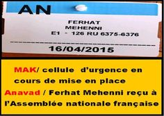 =======INDEPENDANCE DE LA KABYLIE=======: Urgence Kabylie / Ferhat Mehenni à l'Assemblée nat...