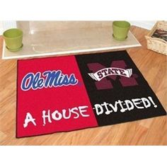 Ole Miss Rebels House Divided Rivalry Rug