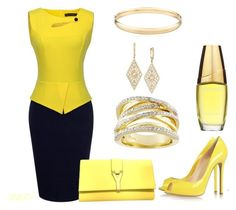 Vibrant In Yellow by flybeyondtheskies on Polyvore featuring Yves Saint Laurent, Effy Jewelry and Estée Lauder