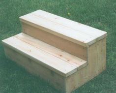 storage step stool hot tub | Hot Tub Steps (With Storage Compartments)