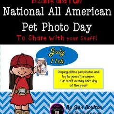 Everyone loves their pets! Ready-made activity for staff to bring pet photos and display.