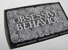 another amazing business card designed by Marian Bantjes