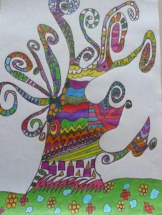 Klasse 3b: Lebensbaum nach Gustav Klimt
