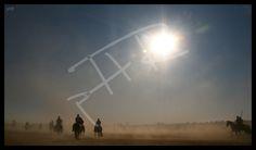 Castilla profunda encierro campestre a caballo