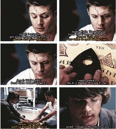 [SET OF GIFS] Jared & Jensen commentary on 2x01 In My Time of Dying