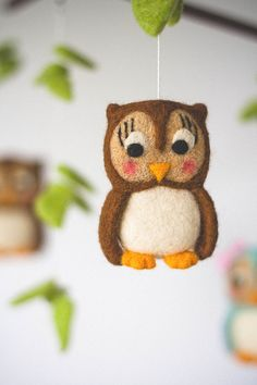 Hey, I found this really awesome Etsy listing at https://www.etsy.com/listing/155648986/owl-baby-mobile-nursery-decor-forest