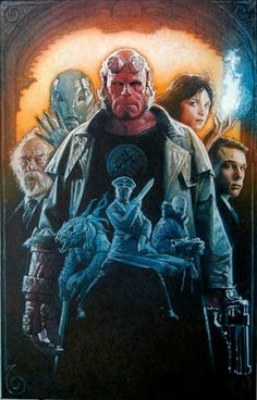 Hellboy (2004). Drew Struzan.
