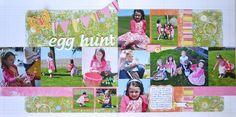Fancy Pants - Easter Egg Hunt Layout by Darla Weber