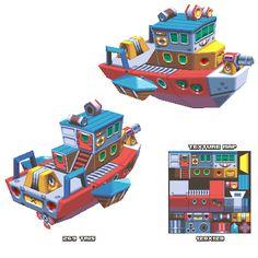 lowpoly boat