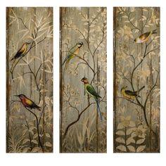 Imax Calima Bird Wall Décor - Set of 3
