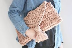 Oversize clutch for all the stuff we just can't leave at home! Available in the shop now