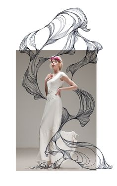 Marina Guiu on Behance Foto Doodle, Doodle On Photo, Fashion Collage, Fashion Art, Editorial Fashion, Fashion Design, Mixed Media Photography, Art Photography, Fashion Photography