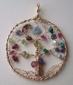 Family Tree necklace pendant  Tree of Life pendant  by mandalarain, $75.00
