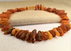 Adult Amber Necklace Raw Genuine Baltic Amber. by BalticAmberCity
