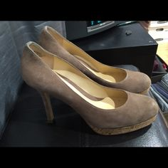 Boutique 9 Tan heels Boutique 9 tan heels with cork bottom. Lightly worn. Comfortable fit. Boutique 9 Shoes Heels
