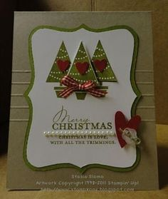 9 More Easy Homemade Christmas Cards with Step by Step Instructions – DIY Fan - Handmade Christmas Cards Homemade Christmas Cards, Christmas Tree Cards, Noel Christmas, Xmas Cards, Homemade Cards, Handmade Christmas, Holiday Cards, Simple Christmas, Christmas Decor