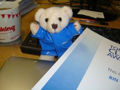 Morclean Bear was very happy on receiving his certificate today! http://morclean.blogspot.com/2014/02/tomorrows-cleaning-awards-2014.html