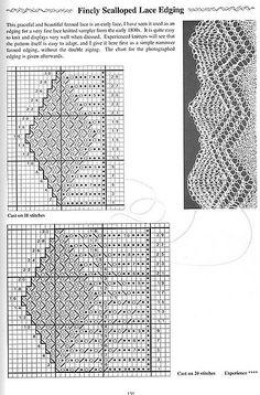 Мобильный LiveInternet Вязание. Коллекция узоров каймы для шалей спицами ( 34 узора). | Госпажа_Удача - Дневник Госпожа_Удача |