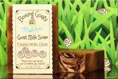 """""""Cinnamon Bun"""" Goat Milk Soap. Zero calories, zero fat, zero gluten... 100% delicious goat goodness."""