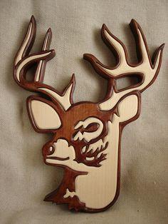 Wooden deer  Deer Wall Hanging  Wallhanging deer Wall by Artwood6