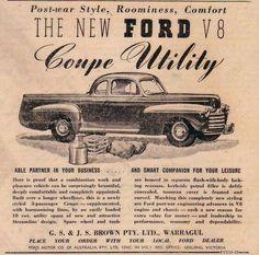 Ford V8 Coupe Utility ~ Australia 1946.