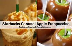 Caramel Apple Frappuccino Apple Juice to the first line, whole milk to the second line 3 pumps of cinnamon dolce syrup 3 pumps of Cream Base 2 Pumps Dark Caramel (or regular caramel) Top with Whipped Cream, Caramel Ribbon Crunch, Caramel Drizzle and Cinnamon Dolce topping