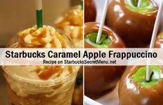 Starbucks Secret Menu Caramel Apple Frappuccino! Recipe here: http://starbuckssecretmenu.net/starbucks-secret-menu-caramel-apple-frappuccino/