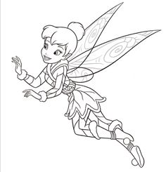 Coloringsco Free Coloring Pages For Girls Tinkerbell