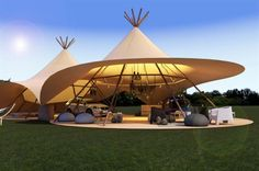 Volvo will activate a tipi tent at the Bestival and Wilderness Festival events