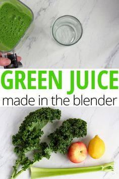 Whole Green Juice Made in the Blender