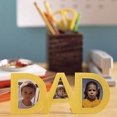"""See the """"Father's Day Cutout Frame"""" in our Kids' Crafts for Dad gallery Handmade Father's Day Gifts, Diy Father's Day Gifts, Father's Day Diy, Kids Crafts, Crafts For Kids To Make, Fathers Day Frames, Happy Fathers Day, Father's Day Clip Art, Paper Picture Frames"""