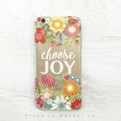 Our clear TPU phone cases feature inspirational Bible verses to help guide you through the day.