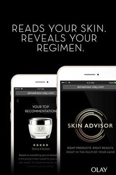 Right products. Right results. Right in the palm of your hand. Use Skin Advisor by Olay to analyze your skin's aging areas and give you a personalized regimen. This new beauty diagnostic tool is the first to analyze skin at the million-pixel level to give you a perfectly personal skincare regimen with just one selfie. Try SkinAdvisor.Olay.com now to get your expert skin analysis.