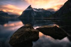 """Surfacing - <a href=""""http://www.simonroppel.com"""">Website</a> <a href=""""https://www.facebook.com/SimonRoppelPhotography"""">Facebook</a> <a href=""""mailto:s.roppel@me.com"""">Licensing Requests</a> --  So here's my next one out of my new Lofoten Series. Guess for me the most scenic point in Hamnøy. But also seen about one million times :) so I tried to create something unique when I was there… Hope I succeeded with that! -- Also check out my new website with all me recent work and information about…"""