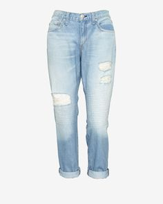 rag & bone/JEAN Moto Panel Destroyed Boyfriend Style# W1591K273IN/CONVBF $268.00  $189.00
