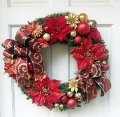 Deck the halls with handmade ornaments, custom tree toppers, and unique holiday lights your family will enjoy for years to come. Gold Christmas, Christmas Time, Christmas Ideas, Christmas Stuff, Holiday Ideas, Gold Wreath, Floral Wreath, Holiday Wreaths, Holiday Decor