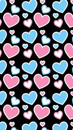 patterns.quenalbertini: Pink & blue heart pattern