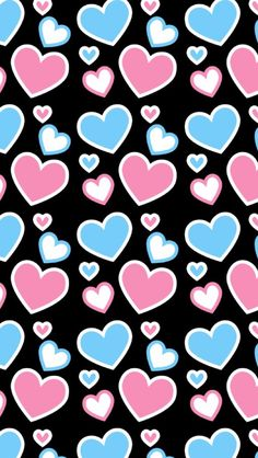 Pink & Blue hearts