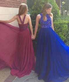 Charming Prom Dress,Sexy Prom Dress with Beading,Long Prom