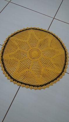 Patrícia  - Trabalhos em Crochê/Work in Crochet/El trabajo en Crochet: Tapete redondo