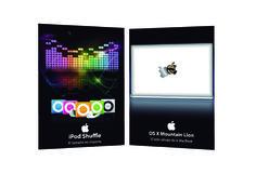 Propuestas de aches publicitarios para productos de Apple.
