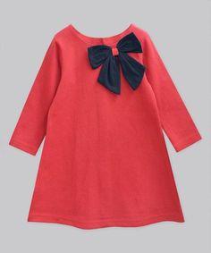 Scarlet & Navy Aurora Bow Shift Dress - Infant, Toddler & Girls #zulily #zulilyfinds