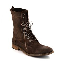 Men's Leather Utility Boots Chocolate D1002