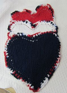 Knit DishclothsHeart Shaped DishclothWashclothDish by Kitkateden