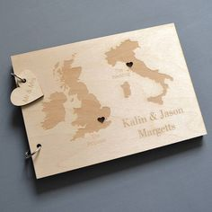 personalised duo destination map guest book by clouds and currents | notonthehighstreet.com