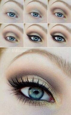 Daytime glam eye makeup