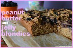 Vegan Mofo 11: Peanut Butter & Jelly Blondies. Sugar-free. « anunrefinedvegan