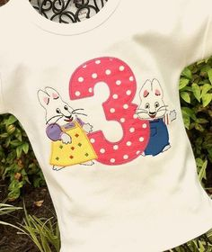 Girls Max and Ruby Birthday Tee by lilshabebe on Etsy, $23.95